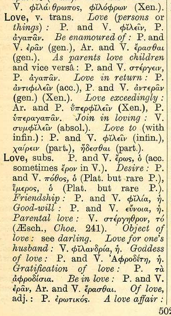 There Are Several Greek Words For Love As The Greek Language Distinguishes How The Word Is Used Ancient Greek Has Four Distinct Words For Love Agape
